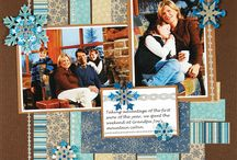 Winter scrapbook pages
