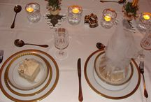 Beautiful Home / Cream and Gold table setting