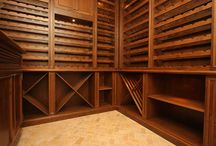Custom Wine Room / We design & build custom inset  cabinets for homeowners across Canada & the USA.  www.wesleyellen.ca   1.888.309.0616