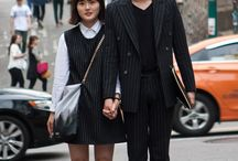 Couples street style / Couples street style, walking hand in hand, wearing matching outfits!