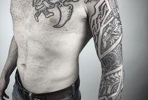 Nordic left arm runes