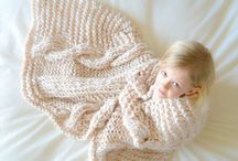 Chunky knitted blanket