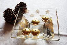 """Especial """"Mesas de lujo"""". Special. / Para tus eventos más especiales, sorprende a tus invitados con una decoración de tu mesa absolutamente única, original y artesanal, gracias a las piezas de cristal pintadas a mano de UnYc-Glassware Design."""