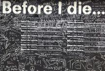 Zanim Umre / Śmierć wydaje się nam ciągle odległa, odwlekamy wszystkie nasze marzenia, wszystki nasze pomysły aż przejdziemy na emeryturę i będziemy mieli czas jednak wtedy nie mamy już siły na robienie niesamowitych rzeczy, dlatego tworzę listę rzeczy, które chciałbym zrobić przed śmiercią i umieszczam je tutaj