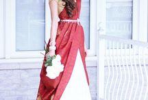 saree bride