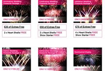 Secial Offers 2015 / Here you will find details of our amazing monthly offers on our wedding fireworks displays. Follow this board to get up-to-date monthly deals or pop over to our facebook page http://www.facebook.com/WeddingDisplayFireworks