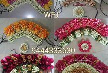 Flower Jada for South Indian Wedding / Floral Accessories for Hair in a South Indian Wedding.