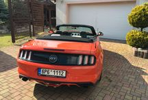 Mustang GT competition orange / EU spec Pony car meet snow for the first time.