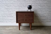Our work - Nightstands / Solid wood pieces inspired by the straight lines and warmth of mid century modern furniture. We make handcrafted pieces influenced by Danish Modern style, but also heavily inspired by the vintage, minimalist aesthetic of downtown New York and Brooklyn. Made with love in NYC.