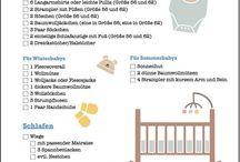 Baby Checkliste / Hast du schon deine Erstausstattung komplett? Hier findest du alles von Baby Checkliste über Tipps für die Erstausstattung.