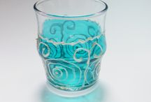 Hand Painted Glassware / Mugs, wedding flutes, glasses, jars, bowls