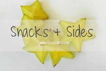 SNACKS + SIDES / Kara Larkin's Snack + Side Recipes    Buffalo Everything, Dips, Chips, Tots, Mashed, etc.