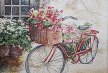 Decoupage bicycles