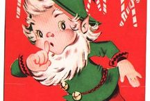 Vintage Christmas cards and wrapping papers