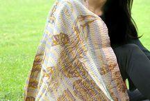 Kantha Silk Scarves