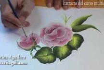Çiçek yağlı boya vidio