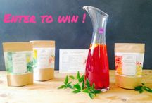Give-Aways to enter and share / Scrumptious food product, serving pieces, books and more