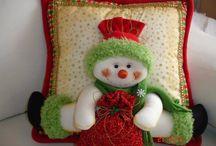 Muñeco De Nieve cojin