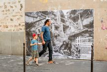 Pasting in Ménilmontant, Paris 2015 / #Dysturb pasted images near Ménilmontant station, as part of the Impressions Festival! All images by Benjamin Girette