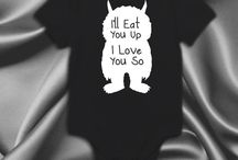 Where the wild things are, ill eat you up baby clothes