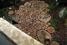 Træ beton sten