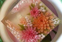 Zselés desszert - 3D zselé virágok