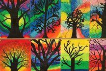 stromy jeseň