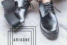 ★ Αriadne || Velvet Μαύρο & Γκρι -> 34,99€