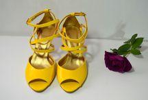 Žluté svatební boty / Žlté svadobné topánky