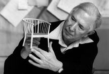 Hans Wegner / One of the most prominent figures of the Danish Design Movement. Creator of 'The Chair', one of the icons of Danish Design. Famously used in the televised debate between Kennedy and Nixon in 1961.