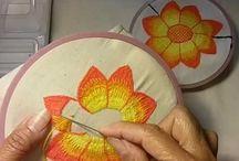 Bordado flor matizado