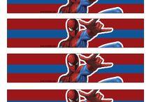 Örümcek adam doğum günü konsepti