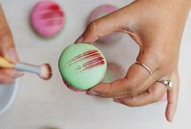 Painting macarons