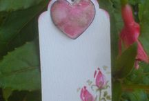 Aquarel and Watercolor Gift-Tags/Geschenke-Anhänger beautiful Rose/Roses /