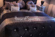 Bedroom Goals / #bed #home #decor #bling #glam #crushed #velvet #interior #ideas #design #chenille #house #inspiration