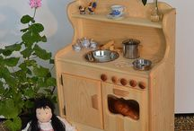wooden play kitchens / by Julie Daellenbach