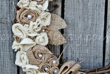 Wreath and centerpieces