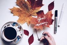 φθινοπωρινά φύλλα με σχέδια