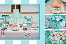 Tiffany blue party decoration / Mesa dulce y souvenirs en tonos tiffany blue y ambiente nautico