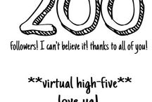 200 Followers!!! / I have just hit 200 followers and I just can't thank you all enough for following me and my boards! I thank you all more than words can describe!!!