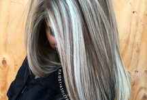 Blonde platinum hair