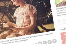 Feminine Blogger Templates / Most amazing beautiful or feminine Blogger templates