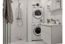 Bathrooms with washing machines