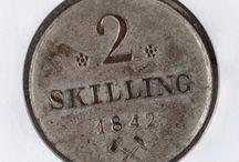 Pengeseddel / Banknote / Mynt / Coin