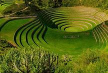 Moray Inca ruins near Maras Peru.. #HeathrowGatwickCars.com