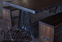 kovový nábytek