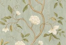 Prints in fabric and wallpaper