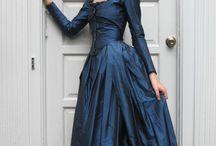 blue black silk fronted satin  formal dresses