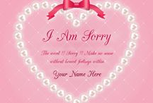 Mynameart mynameart on pinterest i am sorry card sorry card maker online create your own sorry card online m4hsunfo