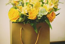 Flower Arrangements / fresh cut flowers, have unusual vases, customized by us, natural wooden boxes, terrarium and more.